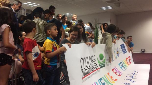15 personnes originaires d'Irak et de Syrie sont arrivées à Paris, le 5 juillet 2017, accueillies par les associations et les institutions organisatrices des Couloirs humanitaires en France.