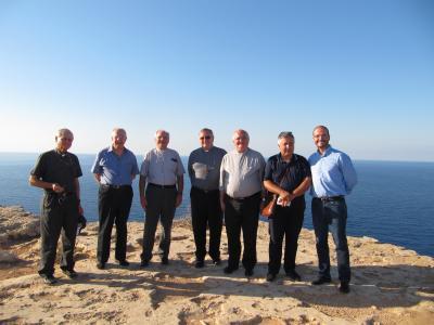 L'évêque d'Arras et le directeur du SNPMPI invités par le cardinal Montenegro à Lampedusa (Italie).