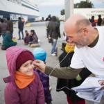 Collaboration entre Caritas et Catholic Relief Services (CRS) à Athènes (Grèce) en décembre 2015.