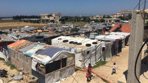 Camp de réfugiés au Liban