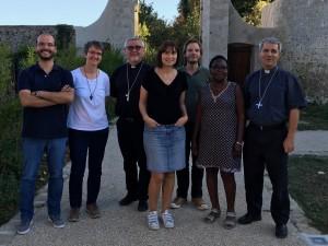 Session de rentrée de l'équipe d'animation avec ses évêques référents.