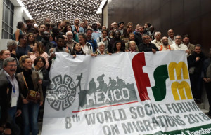 """Soutien aux """"7 de Briançon"""" depuis le Forum Social Mondial des Migrations à Mexico (2-4 novembre 2018)"""