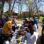 Rencontre de familles syriennes et irakiennes à Avon, organisée par la Pastorale des Migrants du diocèse de Meaux.