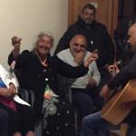 Veillée lors du pèlerinage à Assise 5italie) des Tziganes de l'Ecole de la foi du diocèse de Nice.