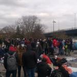 Evacuation d'un camp de migrants à la Porte de Paris, à Saint-Denis, le 17 novembre 2020.